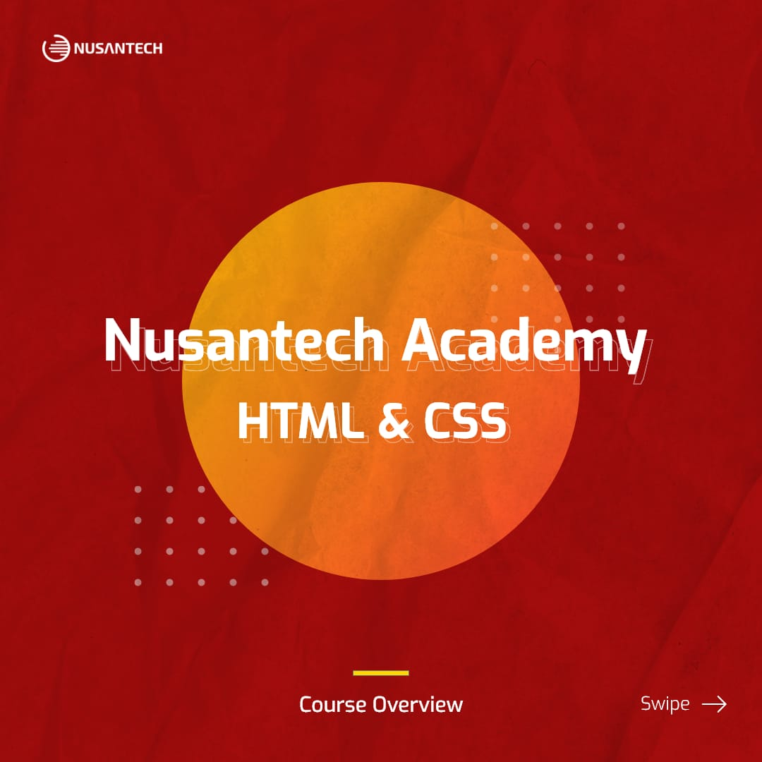 Course Overview – HTML & CSS